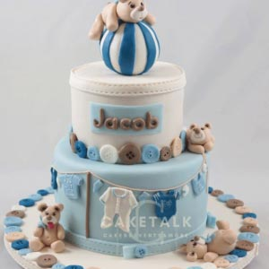 Cake for kids | Teddy bear buttons cake for kids in dubai