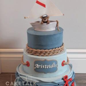 Cake for kids | ailing bear anchor cake for kids in dubai