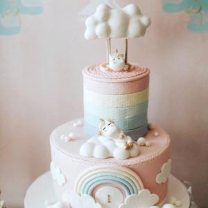 Unicorn rainbow cake for kids in dubai