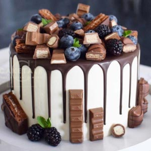 Birthday Cake | Milk chocolate berry bonanza birthday cake