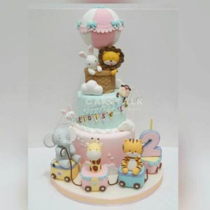 Cake for kids | Animal character air balloon cake for kids in dubai