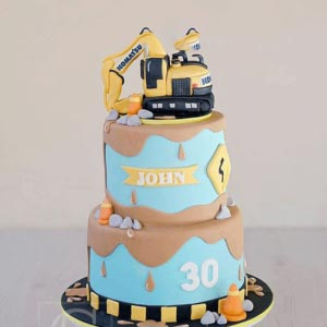 Cake for kids | Two tier tractor cake for kids in dubai