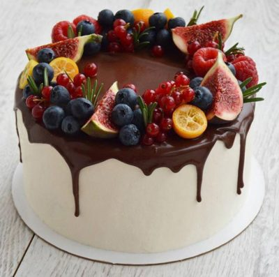 Red Velvet Layered Berry Cake