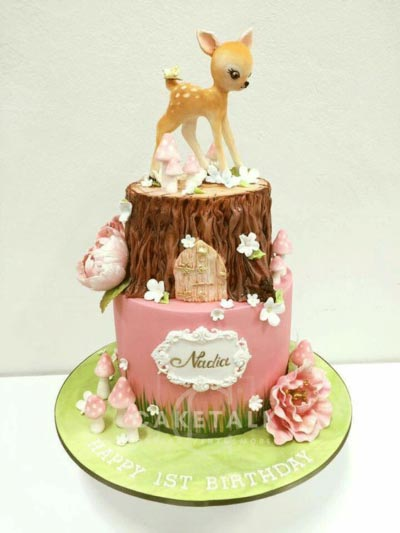 Birthday Cake | Bambi forest cake for birthday in dubai