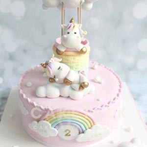 Cake for Kids | Unicorn cloud rainbow cake for kids in dubai