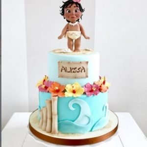 Moana Two Tier Cake