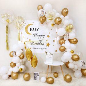 Golden white balloon set - 1