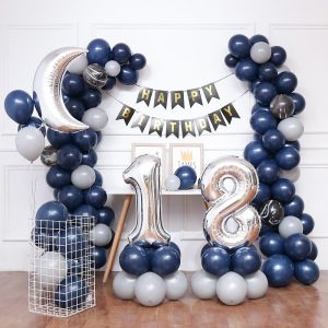 Blue moon balloon set