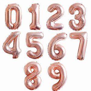 Rose Digit Balloon - Wonderland.ae Dubai - Party Supplies