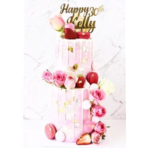 Pale Pink Two-Tier Cake Buy Customized Cake online in Dubai