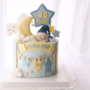 Baby Shower Cake for Boy - 3 - Buy Cake for Kids Online